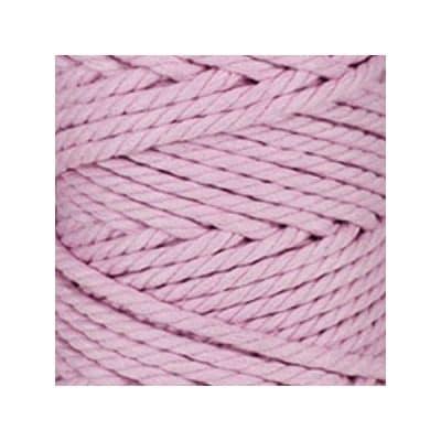 Macramé - corde - ficelle - coton- cordon - rose parme - fil 5mm - vendu au mètre