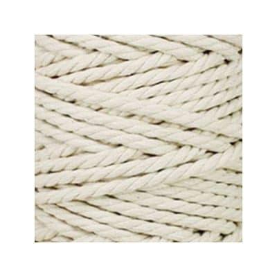 Macramé - corde - ficelle - coton - blanc cassé - cordon - fil 7mm - vendu au mètre