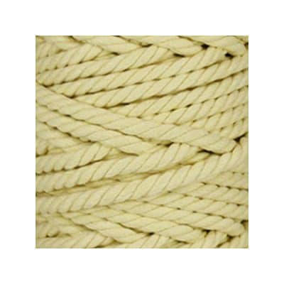 Macramé - corde - ficelle - coton - jaune paille - cordon - fil 7mm - vendu au mètre