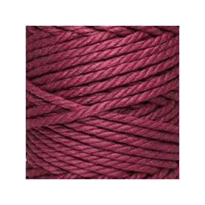 Macramé - corde - ficelle - coton - bordeaux amarante - cordon - fil 5mm - vendu au mètre