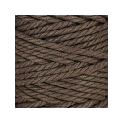 Macramé - corde - ficelle - coton - chocolat marron - cordon - fil 7mm - vendu au mètre
