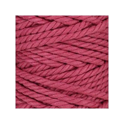 Macramé - corde - ficelle - coton - framboise - cordon - fil 7mm - vendu au mètre