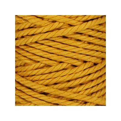 Macramé - corde - ficelle - coton - safran - cordon - fil 7mm - vendu au mètre