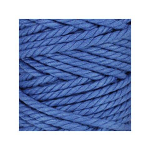 Macramé - corde - ficelle - coton - bleu azur - cordon - fil 7mm - vendu au mètre
