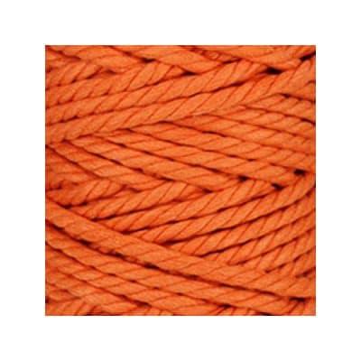Macramé - corde - ficelle - coton - abricot - cordon - fil 7mm - vendu au mètre