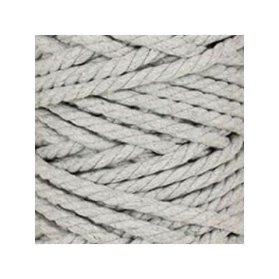 Macramé - corde - ficelle - coton - gris perle - cordon - fil 7mm - vendu au mètre