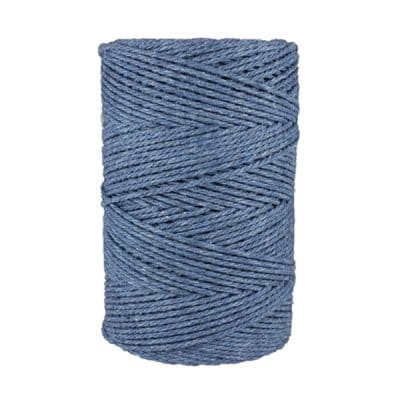 Macramé - corde - ficelle - coton- cordon - fil 3mm - bleu jean
