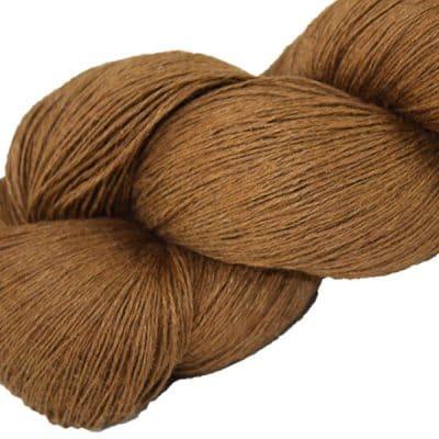 Écheveau fil pur lin, tricot crochet, 100% lin naturel, marron
