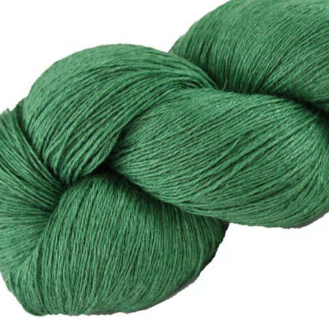 Écheveau fil pur lin, tricot crochet, 100% lin naturel, vert