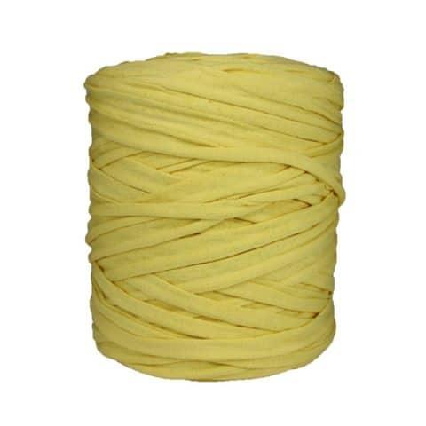 Bobine, pelote,trapilho, trapillo, tshirt yarn,, jaune