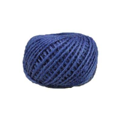 Corde - ficelle de jute- fil de 2mm - bleu - macramé - crochet - bijouterie -décoration -bricolage - art floral