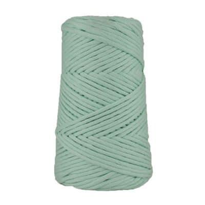 Cordon - corde - coton peigné suprême - fil de 4mm - bleu azurin - macramé - crochet - tricot - tissage