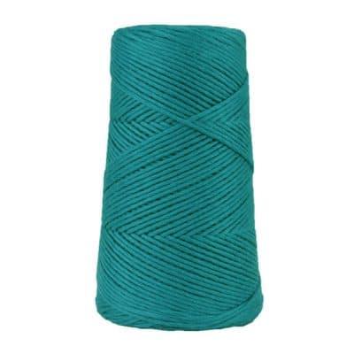 Cordon - corde - coton peigné suprême- fil de 2mm - bleu paon - macramé - crochet - tricot - tissage