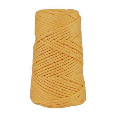 Cordon - corde - coton peigné suprême - fil de 4mm - jaune maîs - macramé - crochet - tricot - tissage