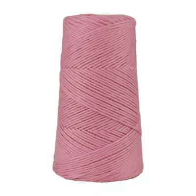Cordon - corde - coton peigné suprême - fil de 2mm - rose - macramé - crochet - tricot - tissage