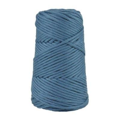 Cordon - corde - coton peigné suprême - fil de 4mm - bleu guède - macramé - crochet - tricot - tissage