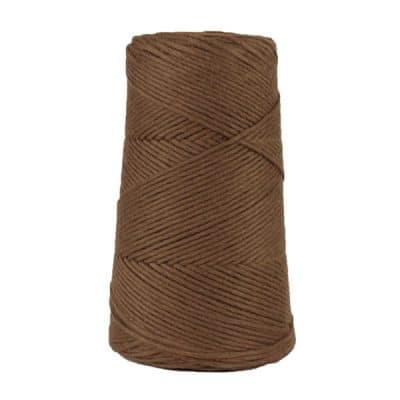 Cordon - corde - coton peigné suprême - fil de 2mm - marron - macramé - crochet - tricot - tissage