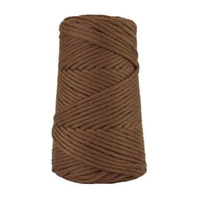 Cordon - corde - coton peigné suprême - fil de 4mm - marron chocolat - macramé - crochet - tricot - tissage