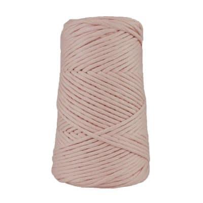 Cordon - corde - coton peigné suprême - fil de 4mm - eau de rose - macramé - crochet - tricot - tissage