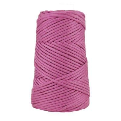 Cordon - corde - coton peigné suprême - fil de 4mm - améthyste - macramé - crochet - tricot - tissage