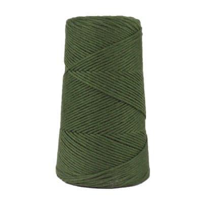 Cordon - corde - coton peigné suprême - fil de 2mm - vert - macramé - crochet - tricot - tissage