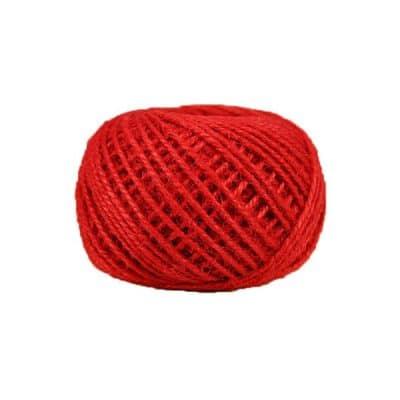 Corde - ficelle de jute- fil de 2mm - rouge - macramé - crochet - bijouterie -décoration -bricolage - art floral