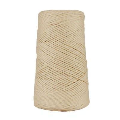 Cordon - corde - coton peigné suprême - fil de 2mm - naturel - macramé - crochet - tricot - tissage