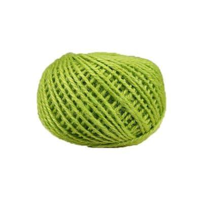 Corde - ficelle de jute- fil de 2mm - vert anis - macramé - crochet - bijouterie -décoration -bricolage - art floral