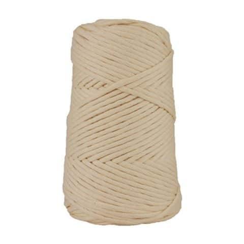 Cordon - corde - coton peigné suprême - fil de 4mm - naturel - macramé - crochet - tricot - tissage