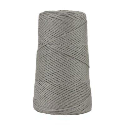 Cordon - corde - coton peigné suprême - fil de 2mm - gris - macramé - crochet - tricot - tissage
