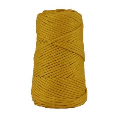 Cordon - corde - coton peigné suprême - fil de 4mm - jaune - macramé - crochet - tricot - tissage