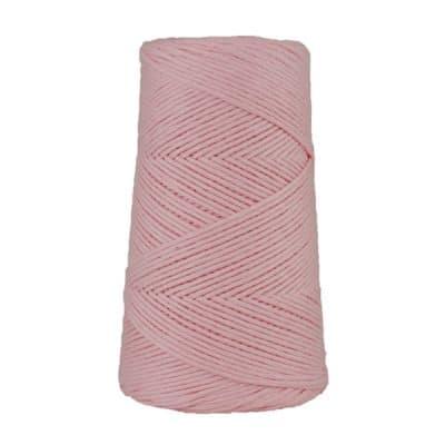Cordon - corde - coton peigné suprême - fil de 2mm - rose dragée - macramé - crochet - tricot - tissage