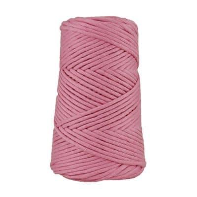 Cordon - corde - coton peigné suprême - fil de 4mm - rose - macramé - crochet - tricot - tissage