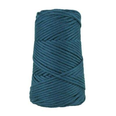 Cordon - corde - coton peigné suprême - fil de 4mm - bleu minéral - macramé - crochet - tricot - tissage