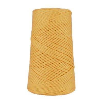 Cordon - corde - coton peigné suprême - fil de 2mm - jaune maïs - macramé - crochet - tricot - tissage