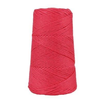 Cordon - corde - coton peigné suprême - fil de 2mm - rouge framboise - macramé - crochet - tricot - tissage