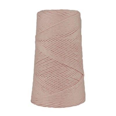 Cordon - corde - coton peigné suprême - fil de 2mm - eau de rose - macramé - crochet - tricot - tissage
