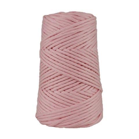 Cordon - corde - coton peigné suprême - fil de 4mm - rose dragée - macramé - crochet - tricot - tissage