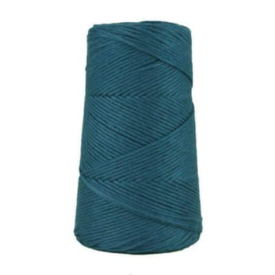 Cordon - corde - coton peigné suprême - fil de 2mm - bleu minéral - macramé - crochet - tricot - tissage