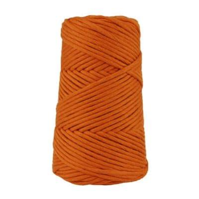 Cordon - corde - coton peigné suprême - fil de 4mm - orange brûlée - macramé - crochet - tricot - tissage