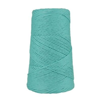 Cordon - corde - coton peigné suprême - fil de 2mm - bleu cyan - macramé - crochet - tricot - tissage