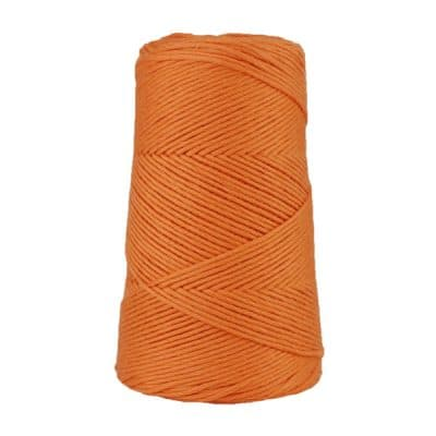 Cordon - corde - coton peigné suprême - fil de 2mm - orange - macramé - crochet - tricot - tissage