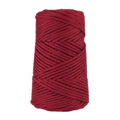 Cordon - corde - coton peigné suprême - fil de 4mm - bordeaux - macramé - crochet - tricot - tissage