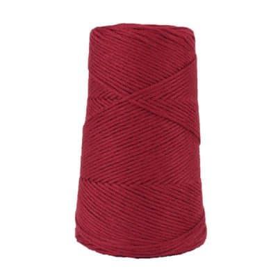 Cordon - corde - coton peigné suprême - fil de 2mm - bordeaux - macramé - crochet - tricot - tissage