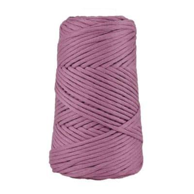 Cordon - corde - coton peigné suprême - fil de 4mm - orchidée - macramé - crochet - tricot - tissage