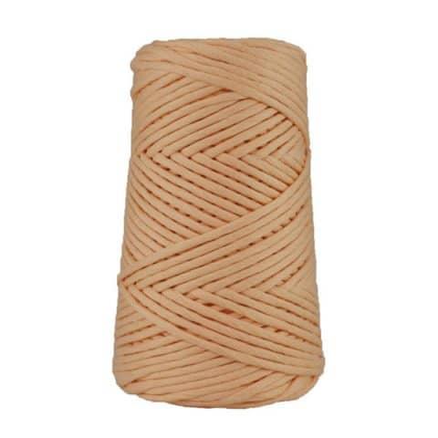 Cordon - corde - coton peigné suprême - fil de 4mm - saumon - macramé - crochet - tricot - tissage