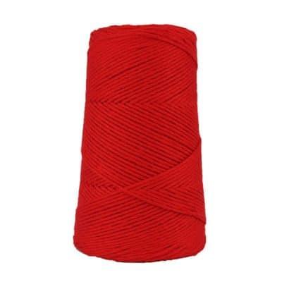 Cordon - corde - coton peigné suprême - fil de 2mm - rouge - macramé - crochet - tricot - tissage