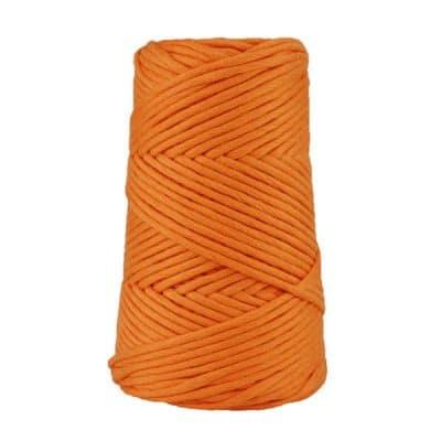 Cordon - corde - coton peigné suprême - fil de 4mm - mandarine - macramé - crochet - tricot - tissage