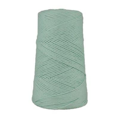 Cordon - corde - coton peigné suprême - fil de 2mm - bleu azurin - macramé - crochet - tricot - tissage