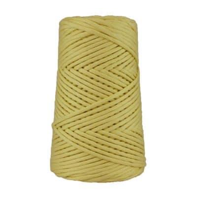 Cordon - corde - coton peigné suprême - fil de 4mm - jaune mimosa - macramé - crochet - tricot - tissage